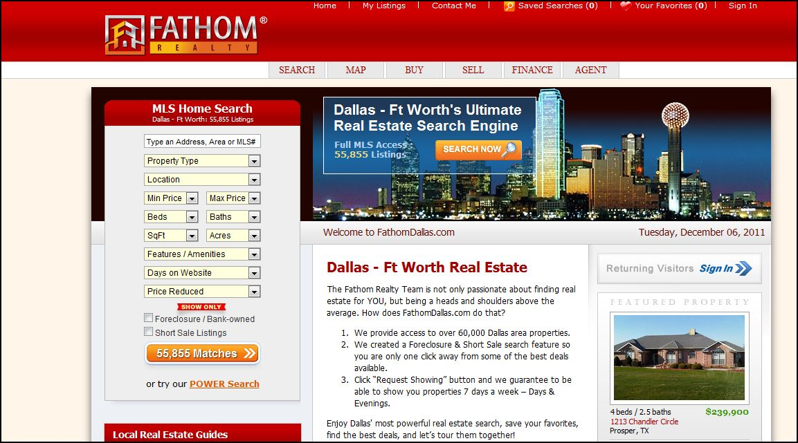 Search for a Home in Frisco, Plano, McKinney, Allen, Prosper, Dallas
